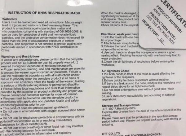 N95 Respirators Surgical Masks Face Masks against on virus